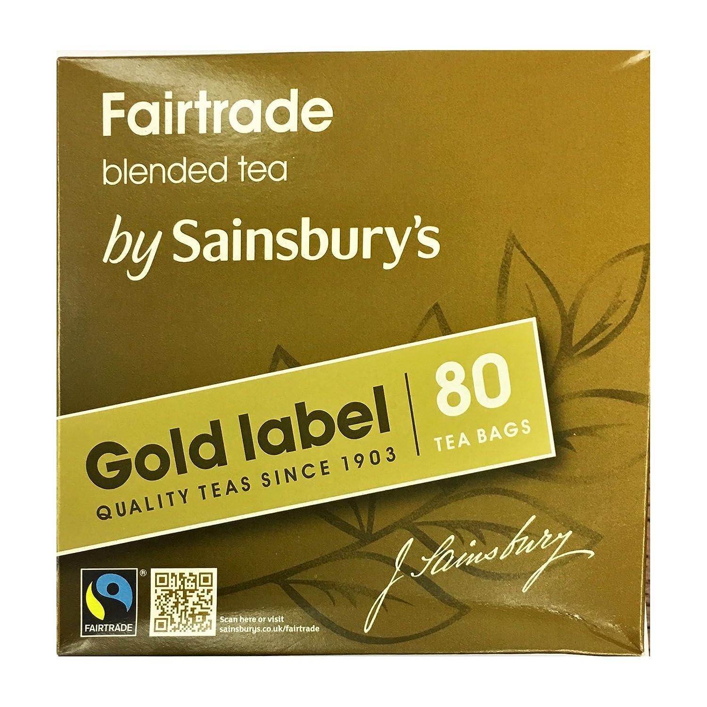 Amazon sainsburys gold label british tea 80 teabags amazon sainsburys gold label british tea 80 teabags fairtrade tea from england grocery gourmet food falaconquin