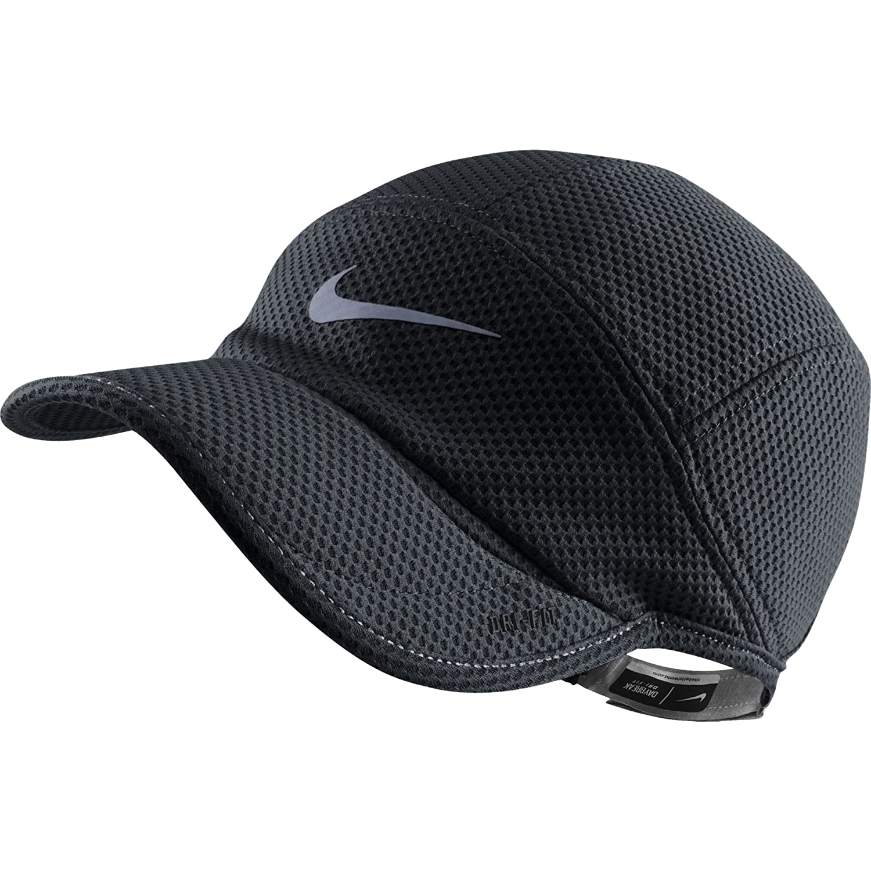 0f76b04fa Amazon.com: Nike Mesh Daybreak Running Hat Black/Reflective Silver ...