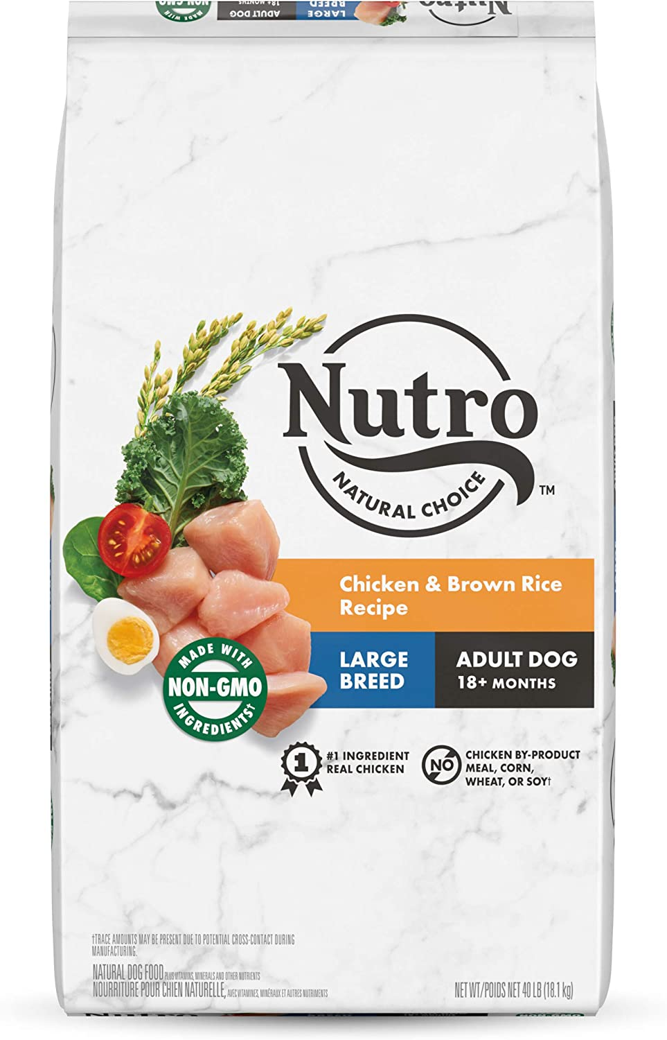 NUTRO NATURAL CHOICE Large Breed Adult & Senior Dry Dog Food, Chicken