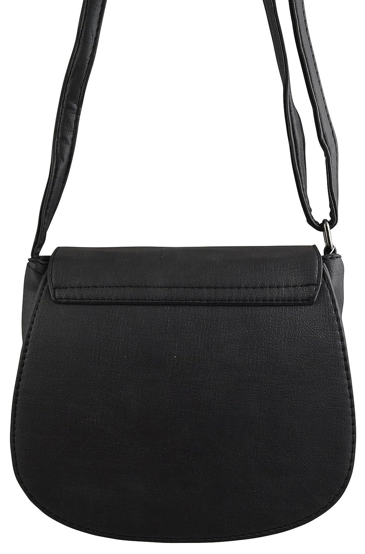 155f36482 Studded Vegan Leather Saddle Bag Boho Crossbody Purse Bohemian Handbag ( Black): Handbags: Amazon.com