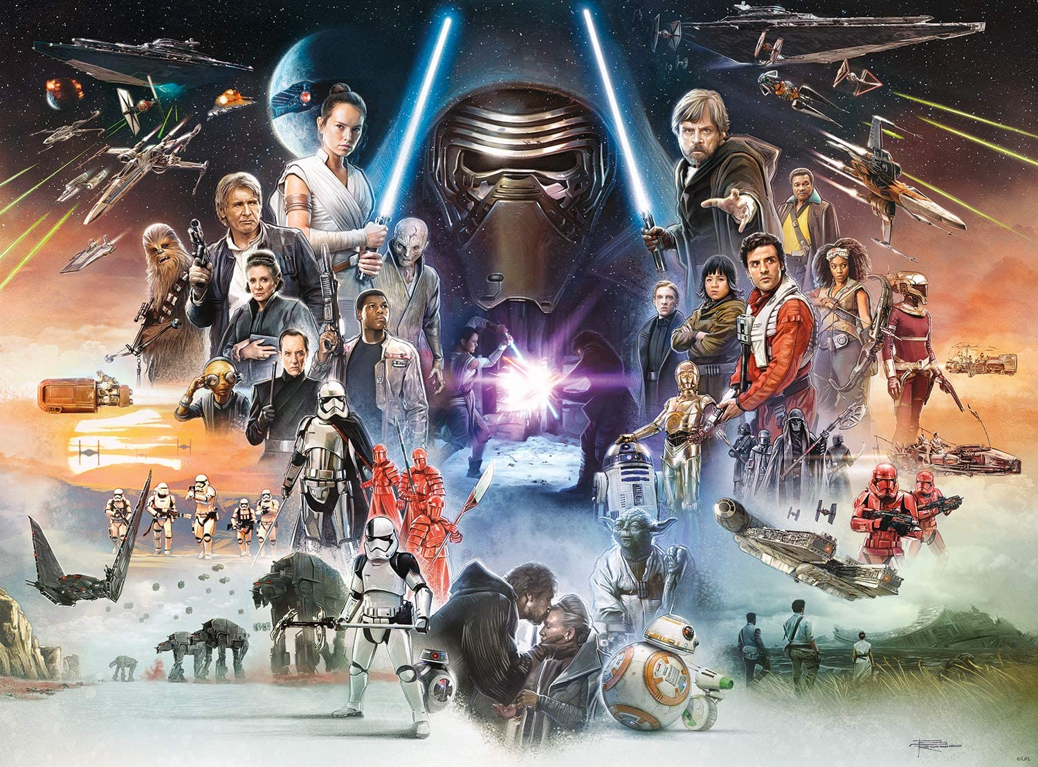 Amazon Com Star Wars If Skywalker Returns The New Jedi Will Rise 1000 Piece Jigsaw Puzzle Toys Games