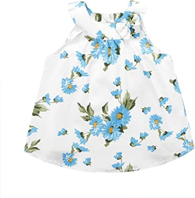 Size 18M 2T 3T 4T Girls Cream Linen Halter Summer Floral Tank Shift Dress