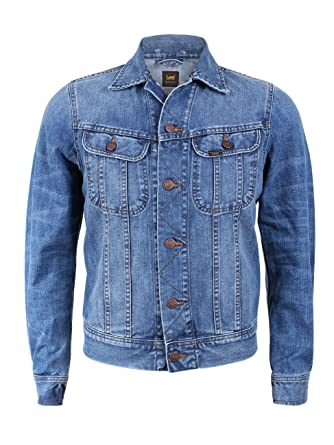 Lee Herren Jeansjacke Rider - Slim Fit, Größe S, Farbe True Authentic 1582baf5db