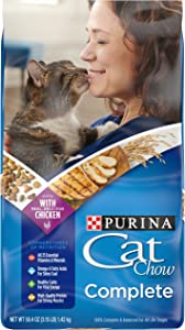 Purina Cat Chow Dry Cat Food, Complete - (4) 3.15 lb. Bags