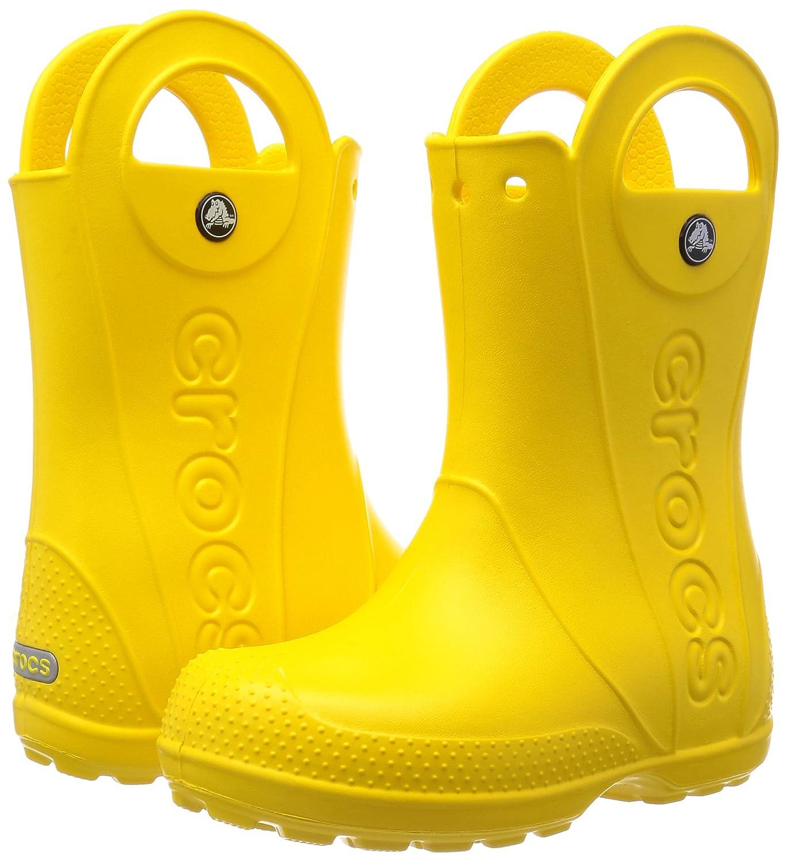 crocs Handle It Rain Boot Kids Unisex Slip on J3  Shoes  12803-730-J3  Yellow  Amazon.in  Shoes   Handbags eb2ca167196