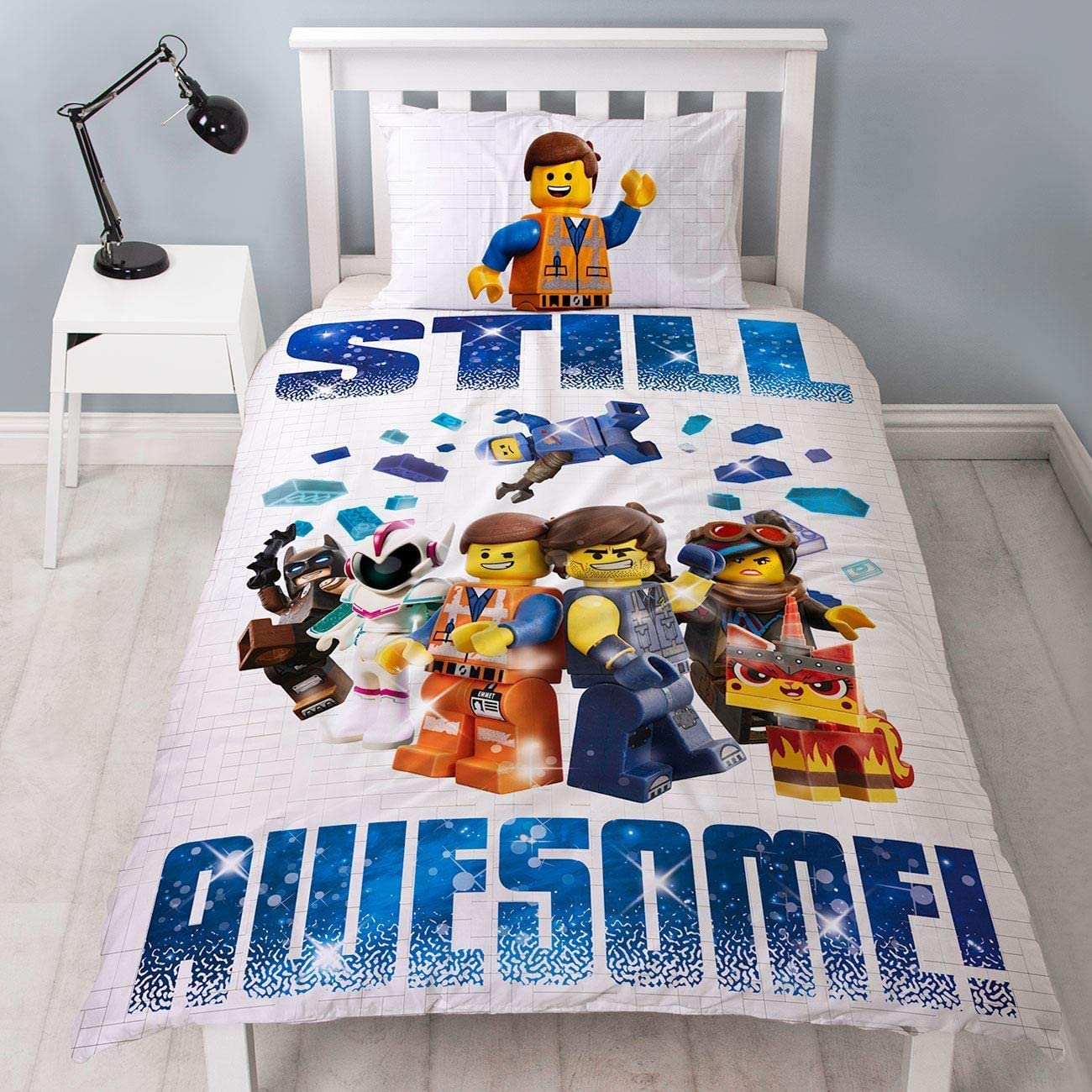LEGO Movie 2 Action UK Single/US Twin Panel Duvet Set (LM2ACTDS001)