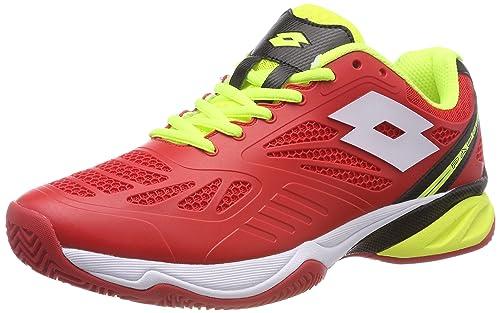 Lotto Superrapida 200, Zapatillas de Tenis para Hombre, Naranja (Flame/Wht 010), 45 EU: Amazon.es: Zapatos y complementos