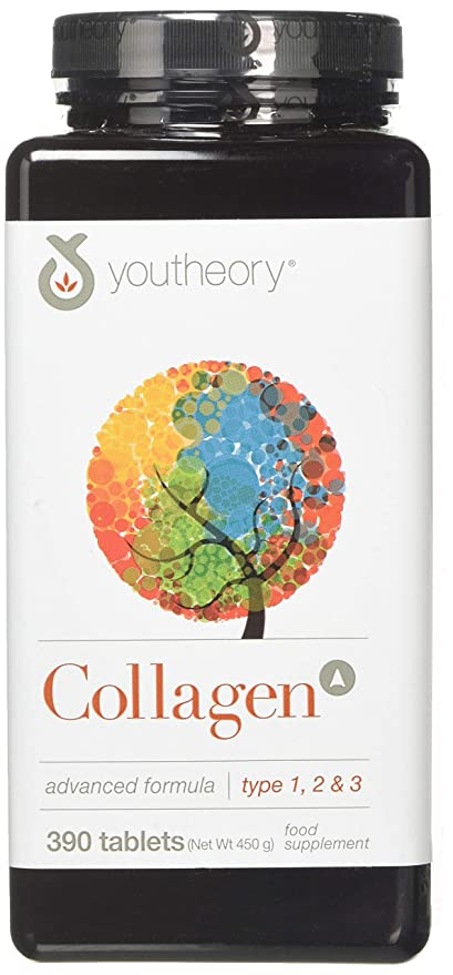 YouTheory Collagen Type 1, 2 & 3 Advanced Formula - 390 Tablets