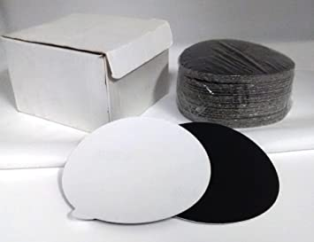 """QTY:50 7/"""" Silicon Carbide 80 Grit PSA Wet Dry Sanding Discs USA SHIPPING"""