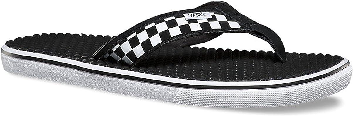 vans black flip flops