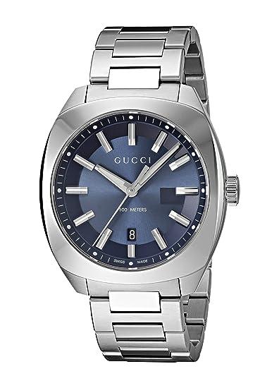 506973f53c0 Image Unavailable. Gucci Swiss Quartz Stainless Steel Dress Silver-Toned  Men s ...