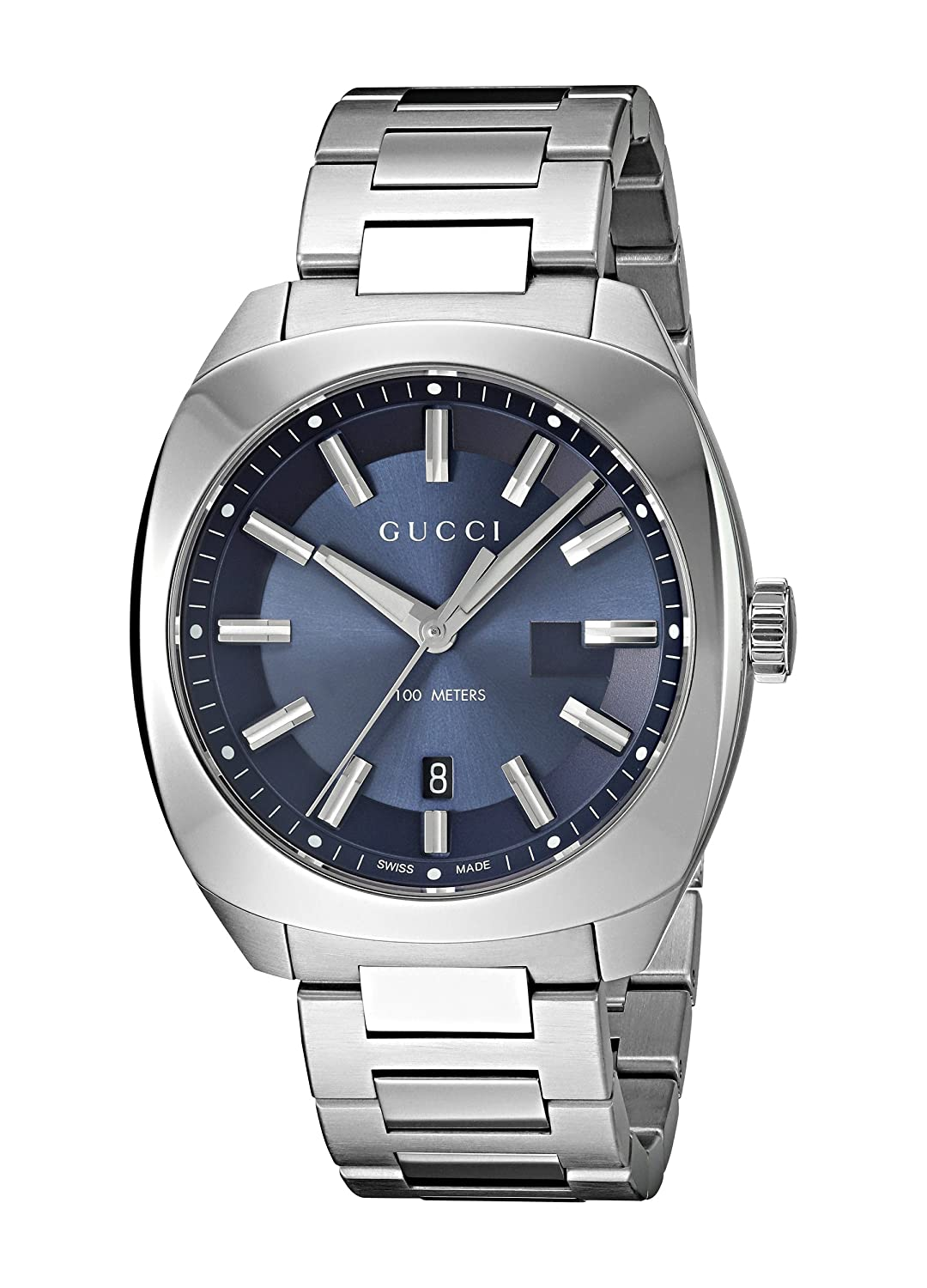 Amazon.com: Gucci Swiss Quartz Stainless Steel Dress Silver-Toned Mens Watch(Model: YA142303): Watches