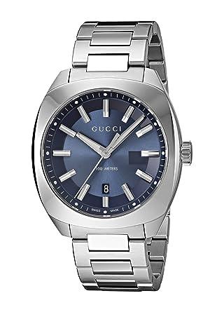 Gucci Swiss Quartz Stainless Steel Dress Silver-Toned Mens Watch(Model: YA142303)