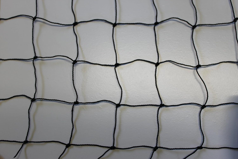 Volierennetz - Tiergehege - Netz - schwarz - Masche 5 cm - Stärke: 1,2 mm - Größe: 10,00 m x 10 m