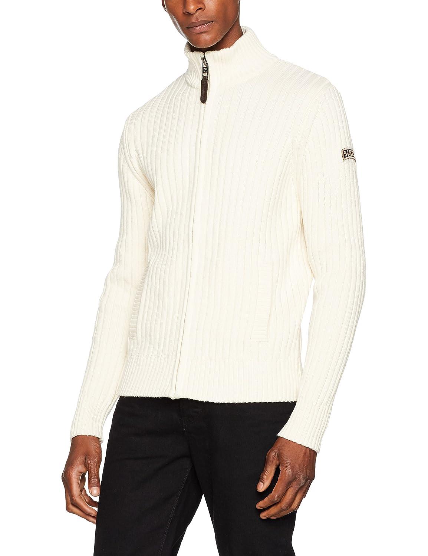 NYC PLRAGE1, Suéter para Hombre, talla L, color azul marino Schott NYC