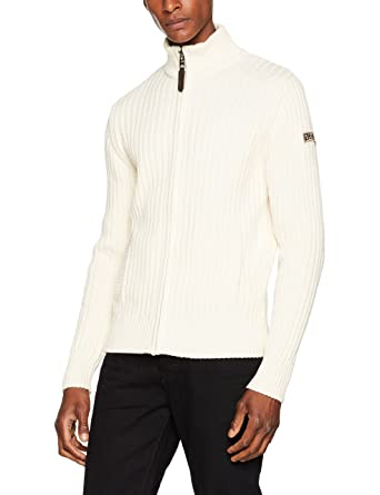 PLRAGE1, Pull Homme, Beige (Naturel), Small (Taille Fabricant: S)Schott NYC