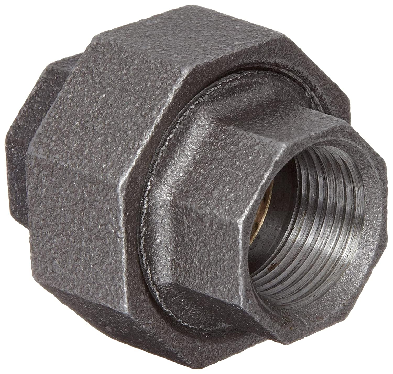 Malleable Iron Pipe Fitting 1//2 NPT Female Black Finish Union Anvil 8700162954