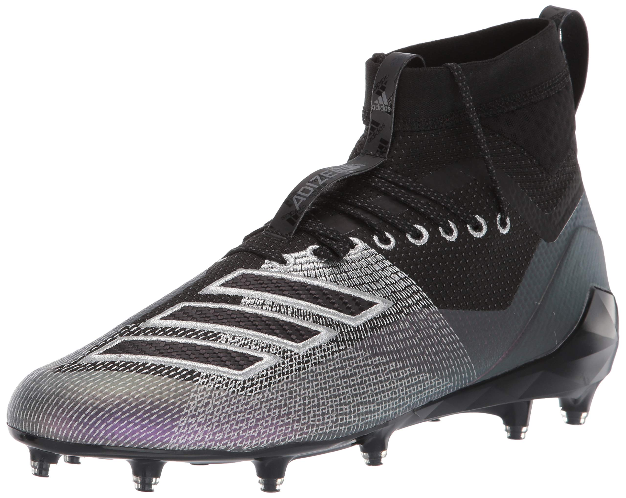 adidas Men's Adizero 8.0 SK Football Shoe, Black/Night Metallic/Grey, 17 M US by adidas