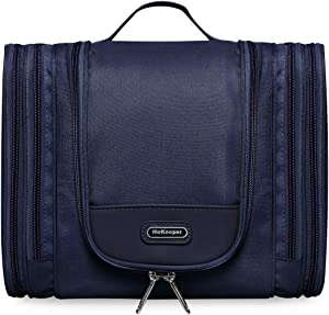 Hanging Toiletry Bag for Men & Women - Travel Cosmetic Makeup Bag Shaving Kit Organizer Bag X Large Dopp Kit (Dark Blue)