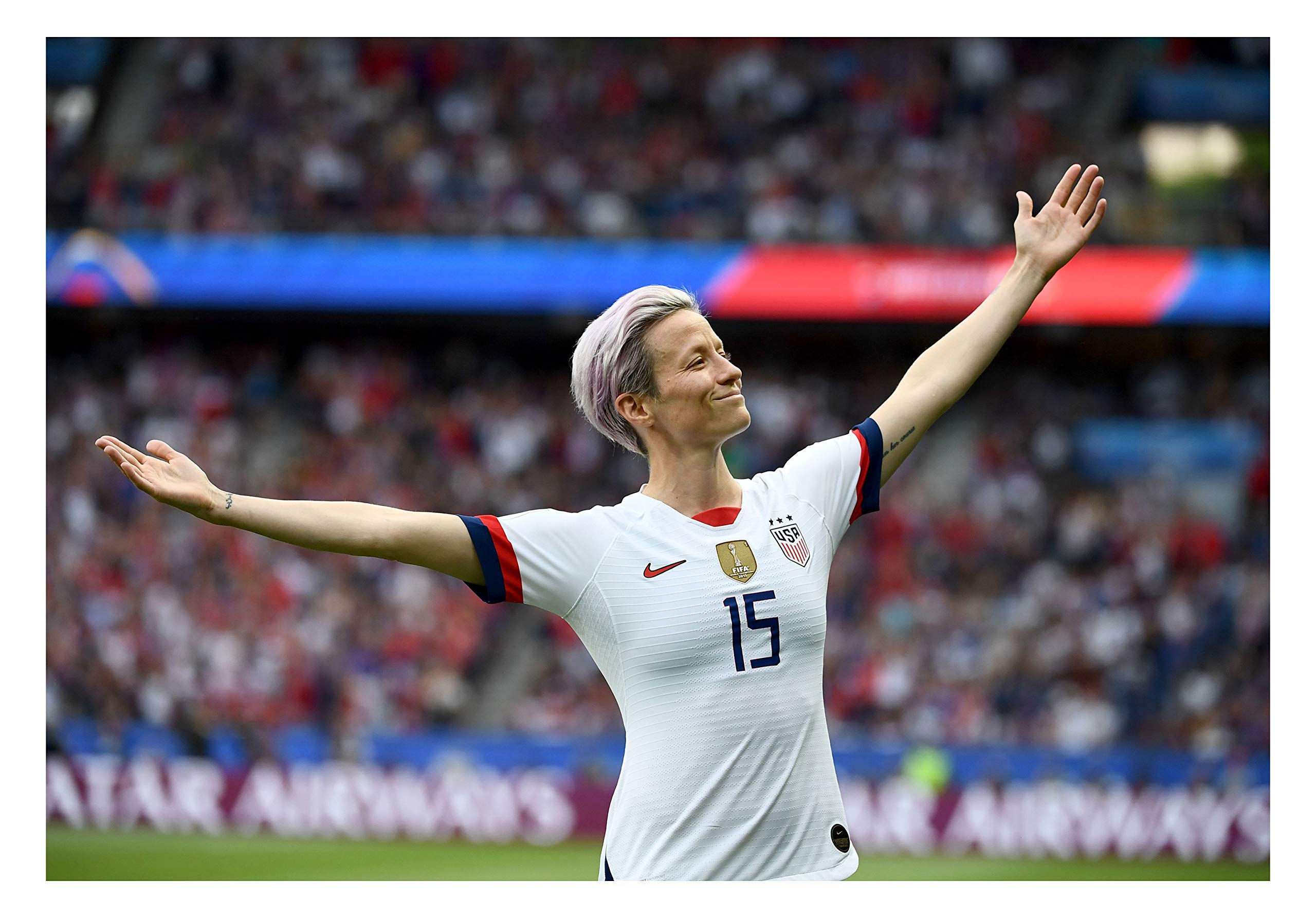 Megan Rapinoe Sports Poster Print Photo Wall Art Limited Celebrity USA Olympic World Cup Women's Soccer Team Athlete Size 8x10#2 by Fullfillment Posters