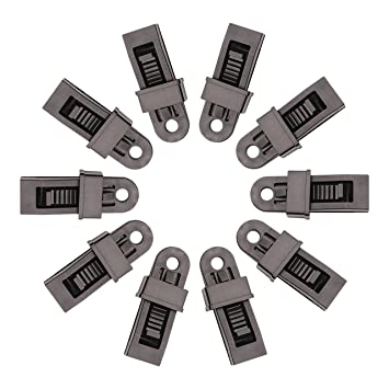 Coolbuymall 10pcs Schwarz Heavy Duty Plane Clips Sliding Lock