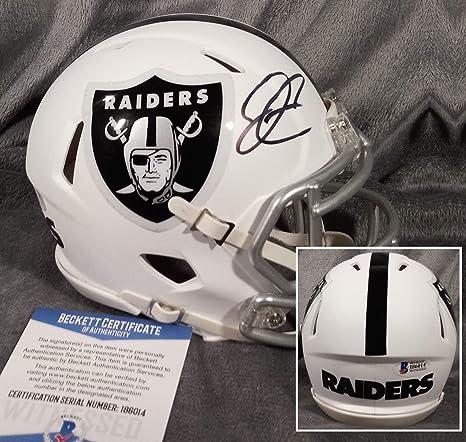 df7e59b4cc2 Derek Carr Autographed Signed Oakland Raiders Mini Matte Helmet Signature -  Beckett Authentic