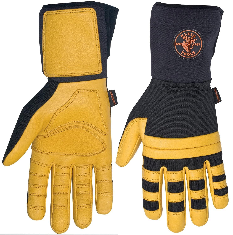 Insulated leather work gloves amazon - Klein Tools 40082 Lineman Work Gloves Large Linesman Gloves Amazon Com