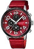 [エンジェルクローバー]Angel Clover 腕時計 LUCE レッド文字盤 60分計クロノグラフ/セラミックベゼル LU44SRE-RE メンズ