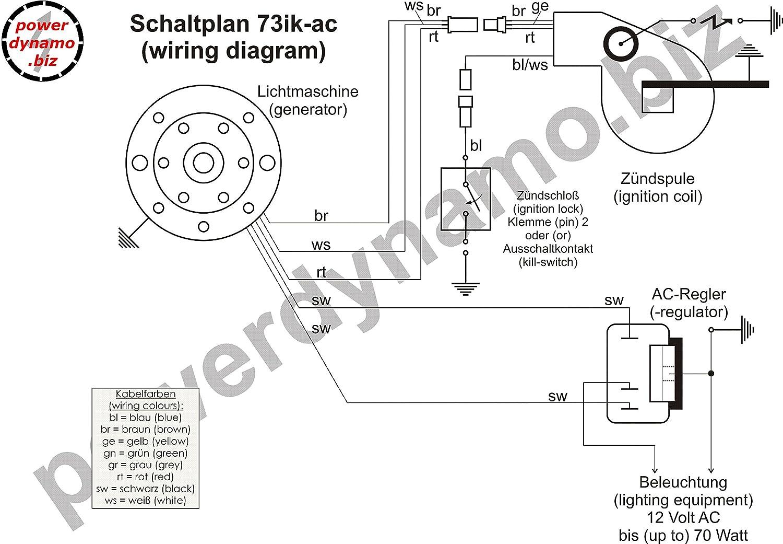 Amazon.com: Powerdynamo Ignition System Stator Yamaha DT RT MX TY ...