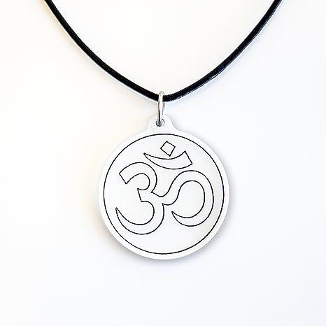 AUM OM OHM Hindu-buddhistischen Yoga Indien Anhänger Halskette Amulett Mann Frau