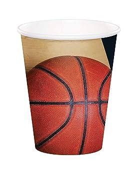 COOLMP - Lote de 6 Vasos de cartón con balón de Baloncesto, 266 ml ...