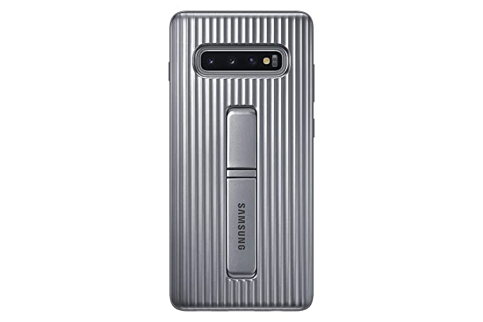 newest ebdc1 4caf6 Samsung Galaxy S10+ Rugged Protective Case with Kickstand, Silver