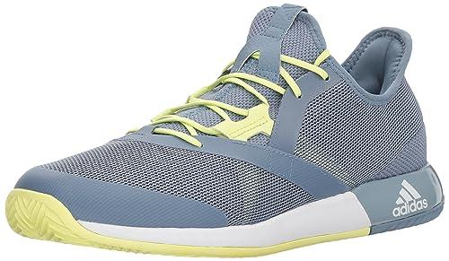 pretty nice 7002d e1702 adidas Mens Adizero Defiant Bounce Tennis Shoe, Raw GreyWhiteSemi Frozen  Yellow