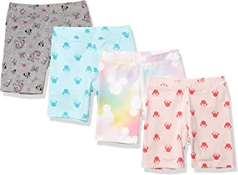 Spotted Zebra Amazon Brand Girl's Disney 4-Pack Bike Shorts