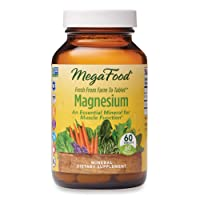 MegaFood, Magnesium, Helps Maintain Nerve and Muscle Function, Essential Mineral Dietary Supplement Vegan, 60 Tablets (60 Servings) (FFP)