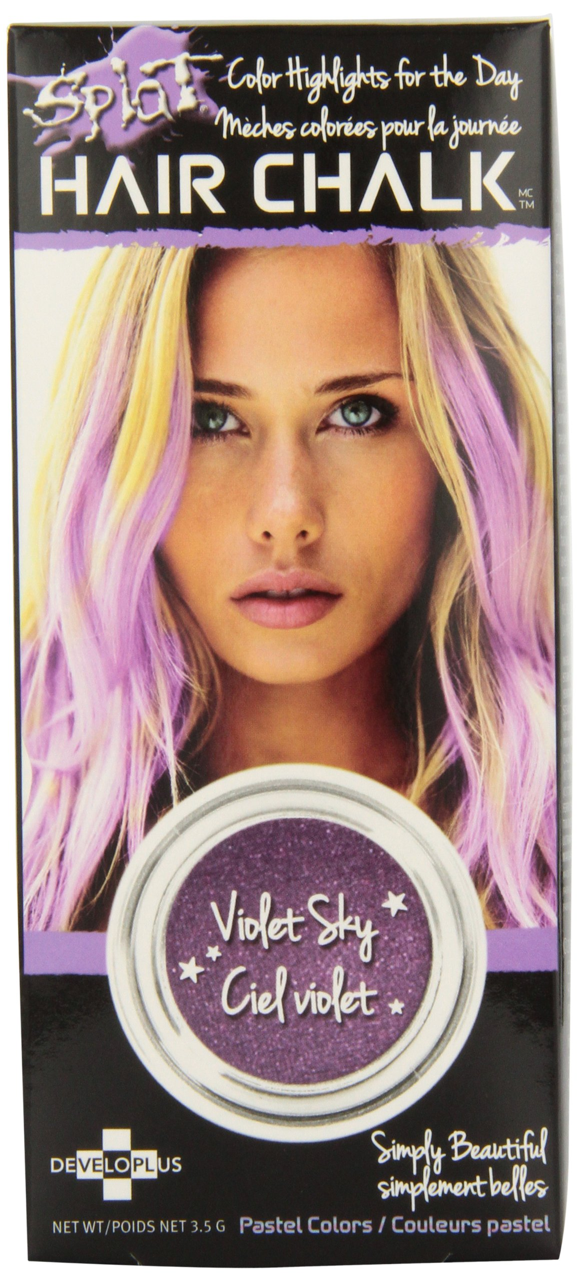 Amazon Splat Hair Chalk Violet Sky Beauty