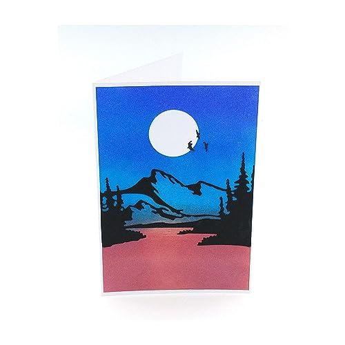 Carte Postale Carte De Voeux Toute Occasion Carte Joyeux Anniversaire Carte Anniversaire Nature Carte Montagne Carte Double 10 5 X 14 8 Cm Plus Enveloppe Amazon Fr Handmade