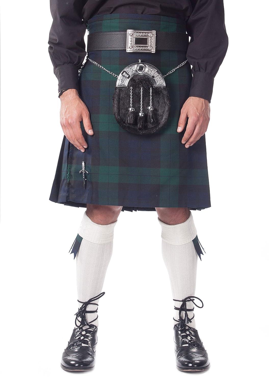 Kilt Societyメンズ7ピースフルドレスKilt outfitBlack Watch Tartan Withホワイトホース  46 B007SVUN2O