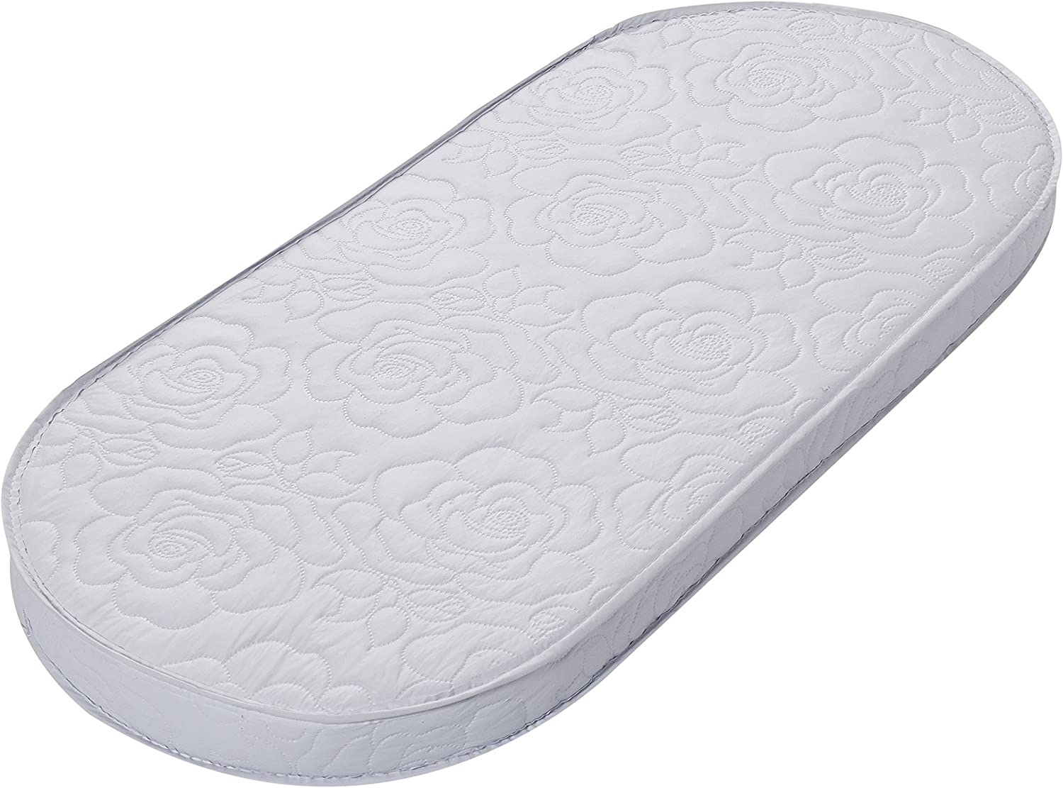 Also Fits Portable Bassinets 13 x 29 x 2 Inch Big Oshi Waterproof Oval Baby Bassinet Mattress Thick Breathable Foam Interior Soft Waterproof Exterior Comfy Padded Design
