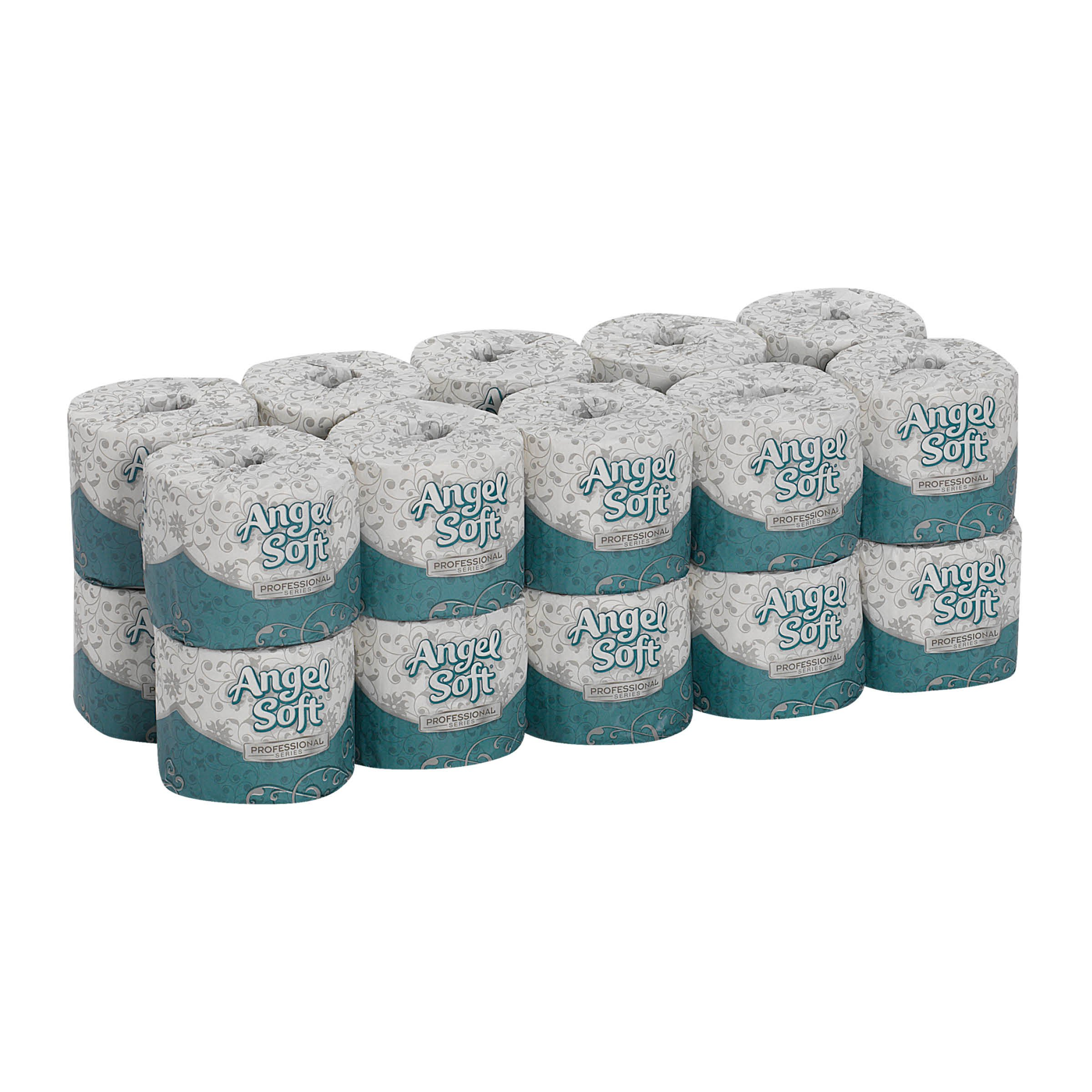 Angel Soft Professional Series Premium 2-Ply Embossed Toilet Paper by GP PRO, 16620, 450 Sheets Per Roll, 20 Rolls Per Convenience Case