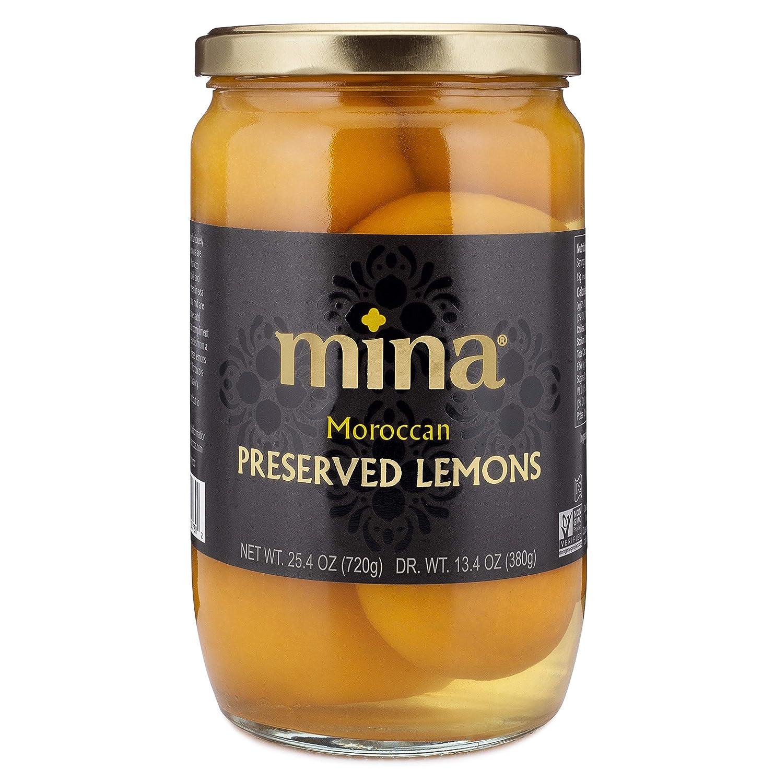 Mina Preserved Lemons, Authentic Moroccan Gourmet Preserved Beldi Lemons, 25.4 Ounce