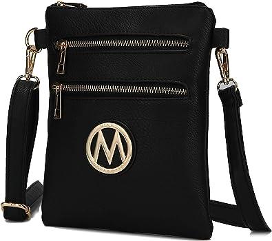 Side Messenger Purse Shoulder Chain Strap MKF Crossbody Bag for Women PU Leather Lady Pocketbook Handbag