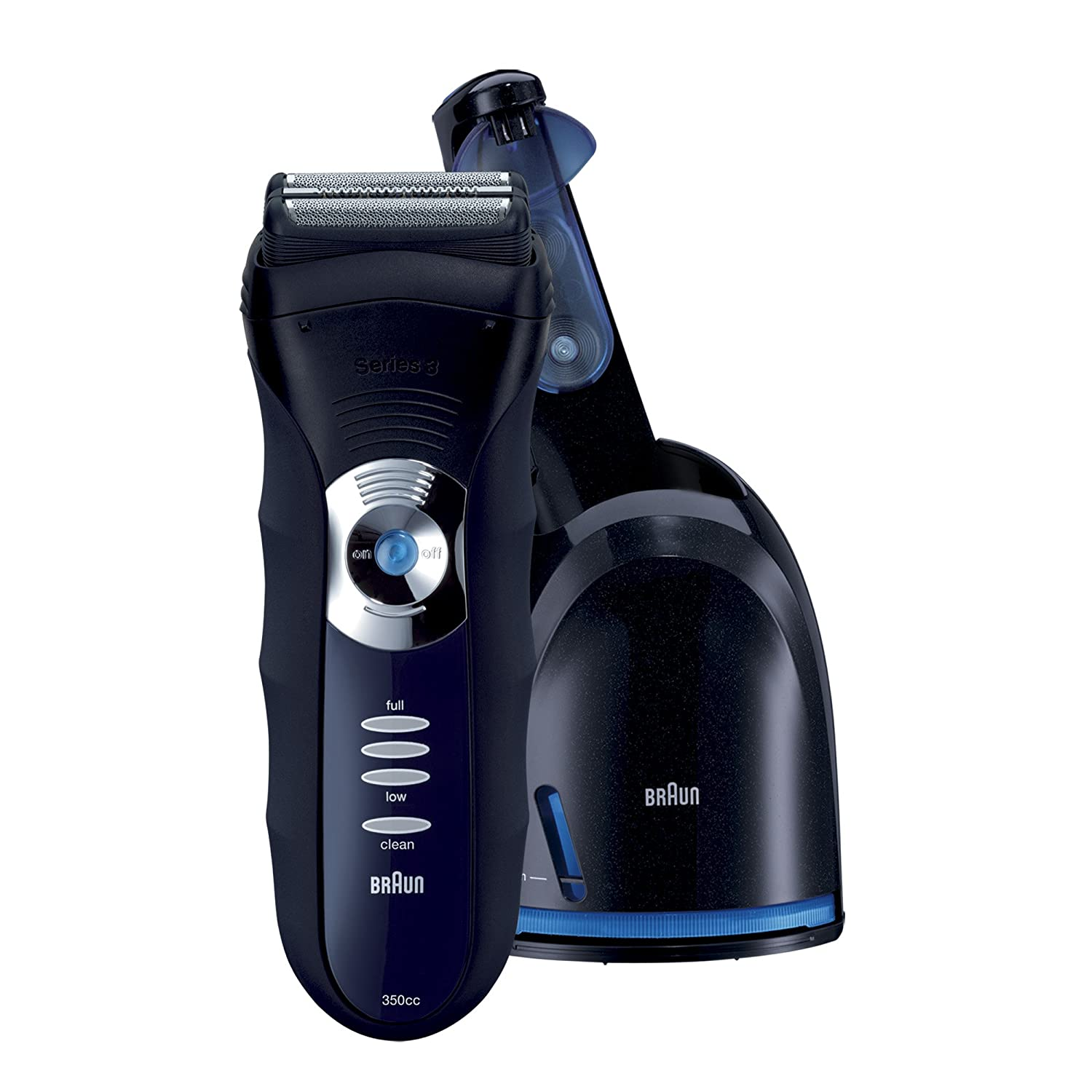 Braun 3 Series 350cc-4 Shaver, Black/Blue