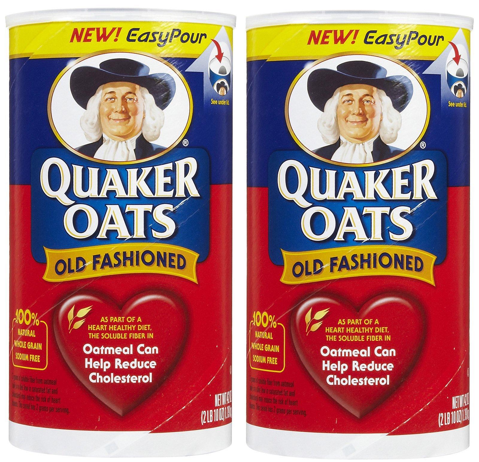 Quaker Old Fashioned Oats, 42 oz, 2 pk