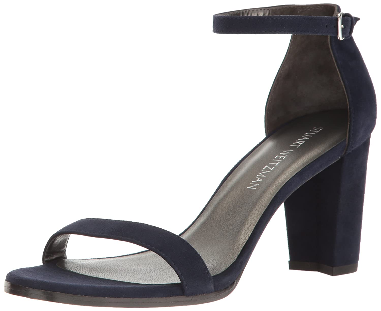 Stuart Weitzman Women's Nearlynude Heeled Sandal B017MWIBAY 8 B(M) US|Nice Blue