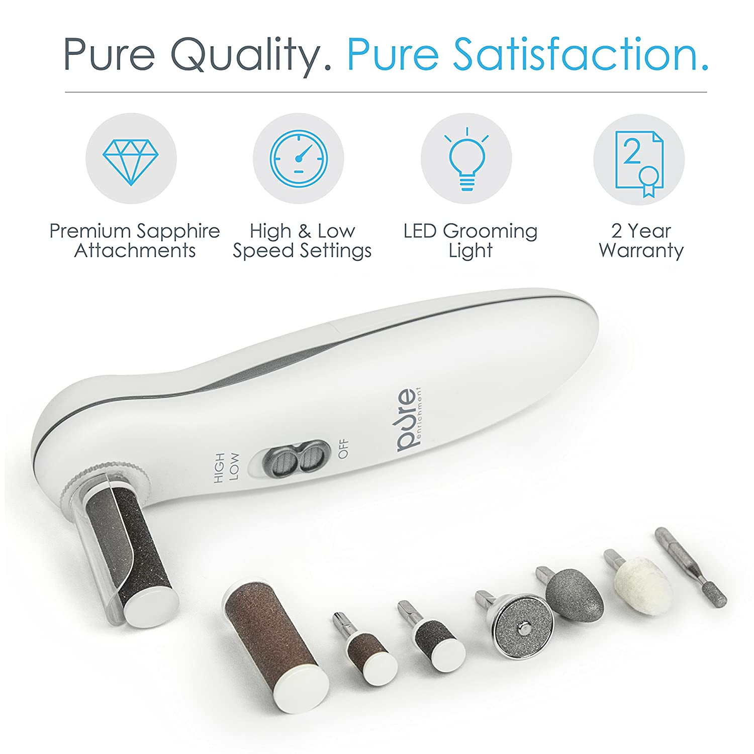 Nail polisher and callus remover nail care kit be sure to check out - Amazon Com Pure Enrichment 8 In 1 Manicure And Pedicure Kit Health Personal Care