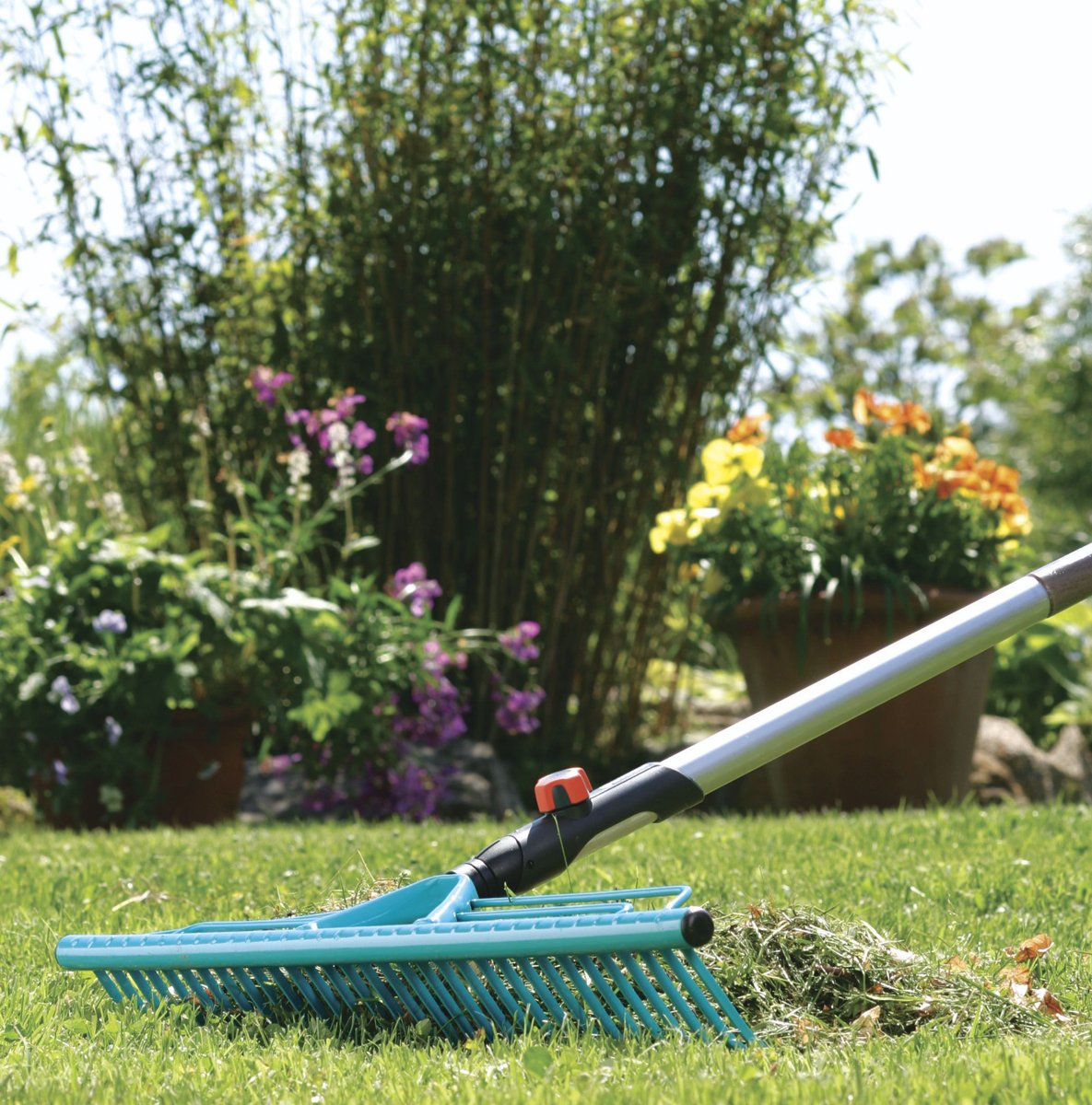 Gardena G3381-20, Rastrillo de Césped Combisystem, Azul, 60 cm: Amazon.es: Jardín