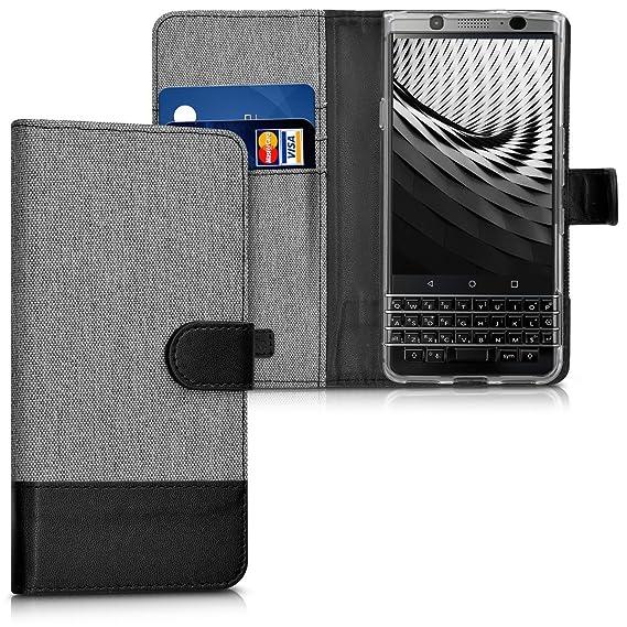 cheap for discount 6b01a e4e91 Amazon.com: kwmobile Wallet Case for BlackBerry KEYone (Key1 ...