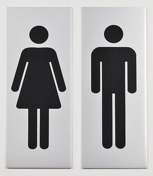 Sivoss para Inodoro - Rótulo - 1 par - WC (- Cartel (por 13 ...