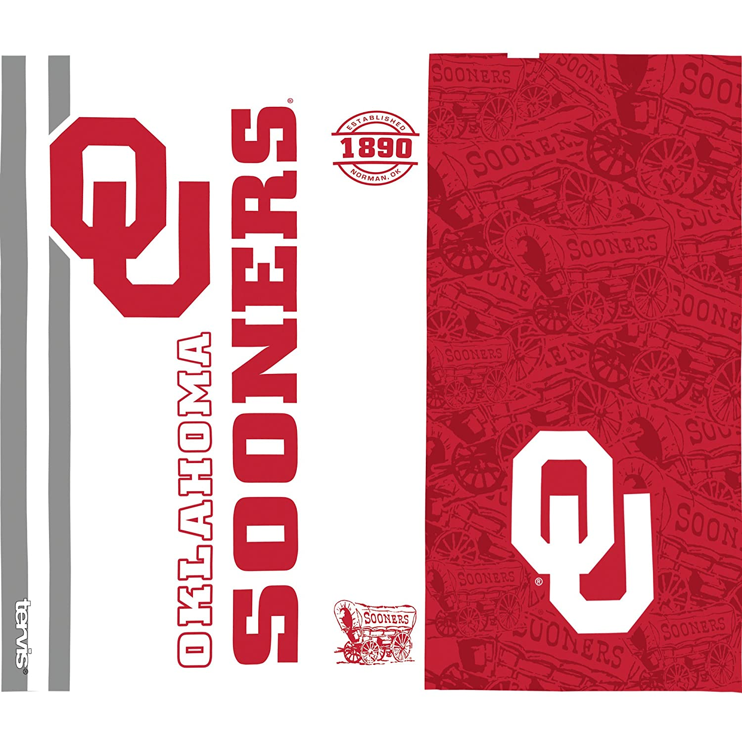 Clear Tervis 1221252 Oklahoma Sooners College Pride Tumbler with Wrap and Red with Gray Lid 24oz Water Bottle
